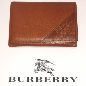 BURBERRY Bifold Leather Card Holder